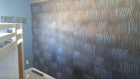 Wallpaper, mud and tape, painting, drywall