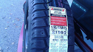 ****Brand new winter tires with rims (5 holes) NEVER USED **** Gatineau Ottawa / Gatineau Area image 2
