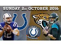 5 tickets NFL Wembley 2/10/16: Jacksonville Jaguars vs Indianapolis Colts Block 136 BELOW COST