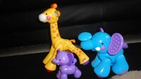 Fisher Price giraffe and elephants