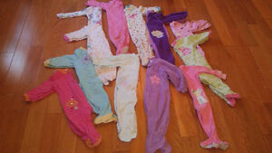 Baby Girl Sleepers (Size 12 months) -x12-