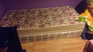 New box and mattress( 3 months' old) for single bed for sale