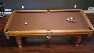Solid maple pool table