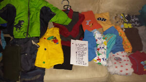 6 to 18 month boys clothes. 21 items
