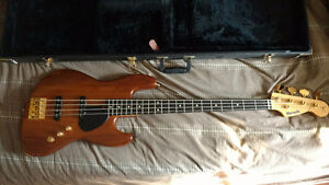 Custom Assembled Warmoth Bass, amp, patch cord, strap and case