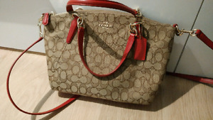 Authentic Coach handbag Brown and red