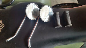Motorcycle Mirrors and Foot Grips