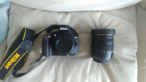 Nikon D5300 with Sigma 17-50mm Lens - Mint Condition