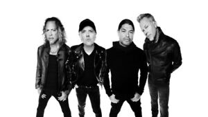 METALLICA SASKATOON 4 SIDE BY SIDE TIX SOLD OUT SHOW