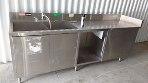 lavabo stainless commercial