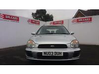 2003 03 SUBARU IMPREZA ESTATE 1.6 TS 4X4.RAKES OF HISTORY.FULL MOT.GREAT VALUE .