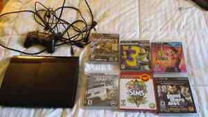 Ps3 with games barely used 1 remote