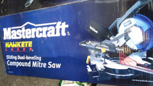 """Mastercraft Mitre Saw, 10"""", Dual-Bevel, never used still in box"""