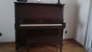 Moving give away--Free piano with Ivory keys and bench