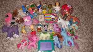 Vintage toys from 80's, 90's, early 2000.