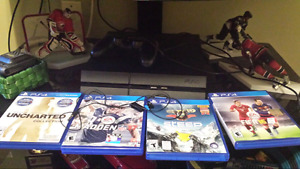 Playstation 4, all cords, games and 1 controller