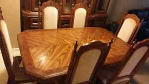 Solid Wood Antique Dining Set For Sale