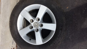Mazda Alloy R 15 Wheel Rims  with Tire Installed