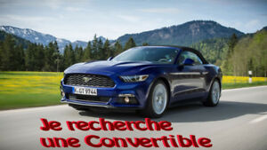 Mustang 2015-2016   Bleu Blanc Rouge  Convertible  Je RECHERCHE