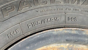 Winter Tires and Rims from a 2000 Honda Accord SE