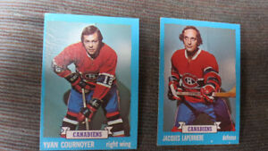 Cournoyer and LaPerriere 1974-74 NHL cards
