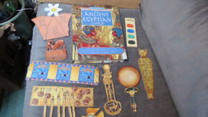 Egyptian child book with treasures