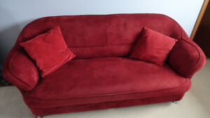 3 seater couch - RED - great condition - designer style