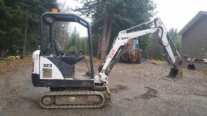 For Sale 2007 Bobcat 323 mini excavator