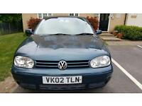2002 VW GOLF 2.0 GTI,MANUAL, MOT 09/2017,2 FORMER KEEPE FULL SERVICE
