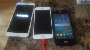 Samsung note 4, iPhone 6, Black Acer