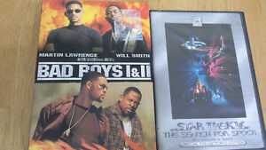 Bad Boys 1 & 2 box set & Star Trek III Search for Spock collect.