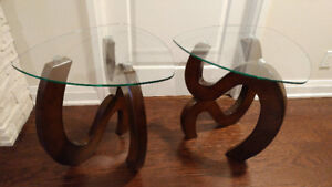Two side coffee occasional tables