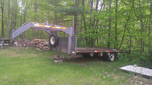 MAKE AN OFFER!!! DUEL AXLE HEAVY DUTY FLATBED FIFTH WHEEL!!