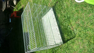 cage a chien blanche