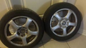 Tires and BMW rims  80 for