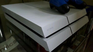 White PlayStation 4  2TB With Extras 350 O.B.O