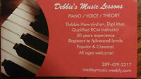PIANO / VOICE / THEORY music lessons