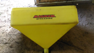 Two tailgate salt spreader hopper only
