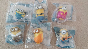 6 Talking Minion Toys McDonald Happy Meal 2015 Despicable Me
