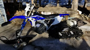 2015 Yamaha WR450 street legal with Timbersled.