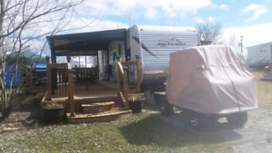 2013 Jayco bunkhouse on park lot in flamborogh with golf cart