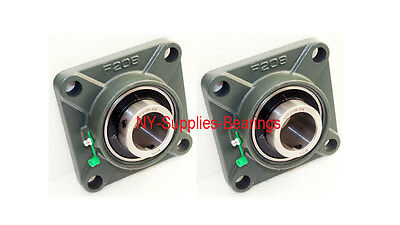 1-12 Ucf208-24 4 Bolt Square Flange Ucf208 Block Bearing Qty 2 Pieces
