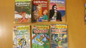 A to Z Mysteries and Geronimo Stilton Books - 9 books