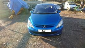 "PEUGEOT 307 2.0 HDI 2002 (52) HATCHBACK (BLUE), BREAKING FOR SPARES ""WHEEL NUT"""