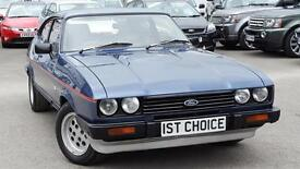 1983 FORD CAPRI 2.8I FANTASTIC CASPIAN BLUE OVER SILVER JUST BEING FIN