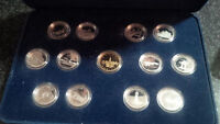 1992 Canada Silver Proof 13 coin set sterling silver quarters
