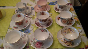 9 Sets of Tea Cups and Saucers