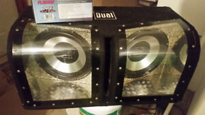 2 12 inch dual subs in infinite box .good shape