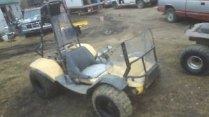 1980 YELLOW ODESSY WITH 340 POLARIS ENGINE PLUS ANOTHER PARTS 1