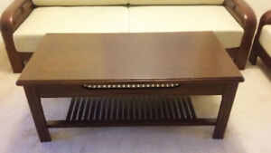 Solid Wood Cherry Finish Coffee Table